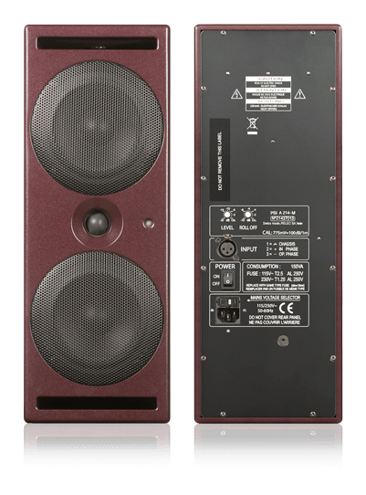 PSI Audio A214-M front and back view