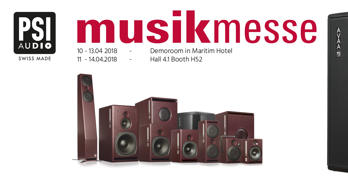 PSI Audio at Musikmesse 2018 Banner