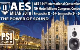 PSI Audio at AES Milan 2018