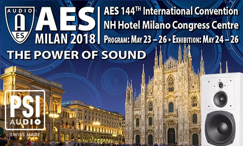 PSI Audio at AES Milan 2018