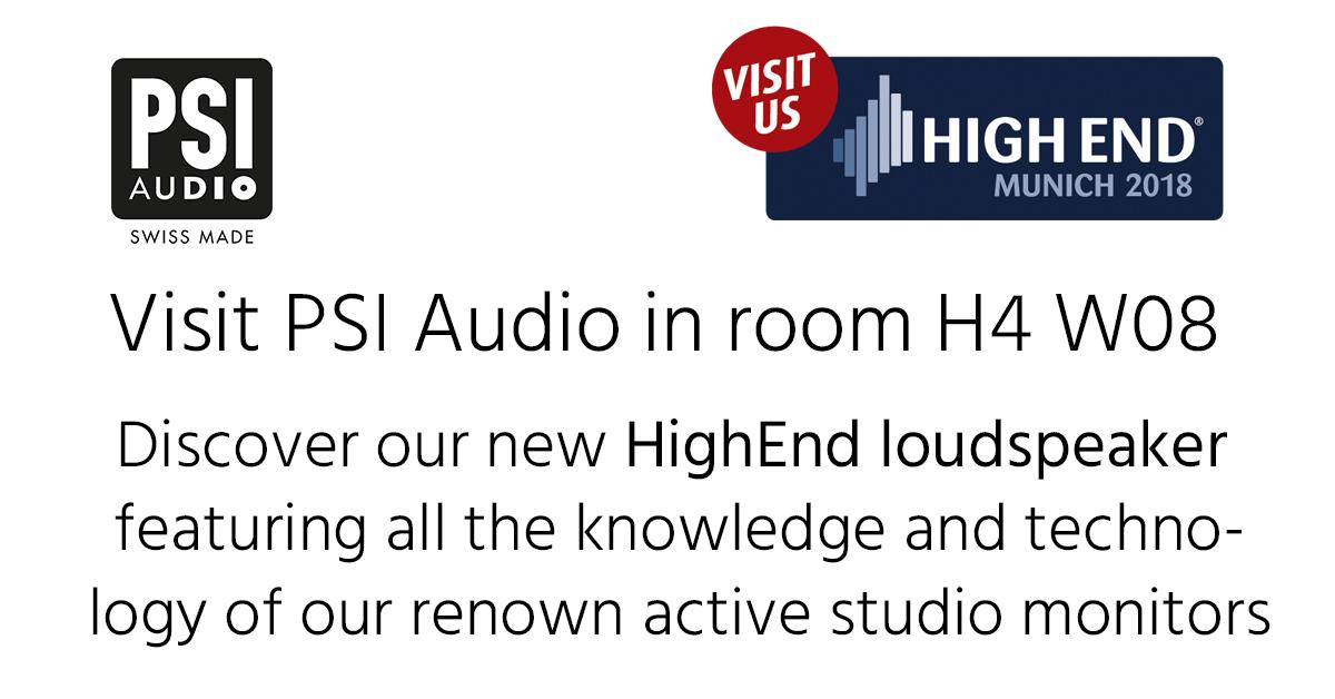 PSI Audio High End 2018 in Munich